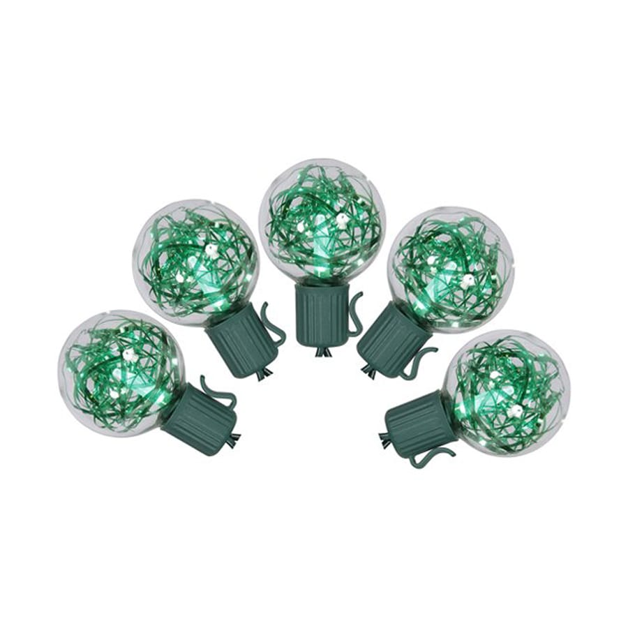 Shop Northlight 25-Count Constant Green G40 LED Plug-in Indoor/Outdoor Christmas String Lights ...