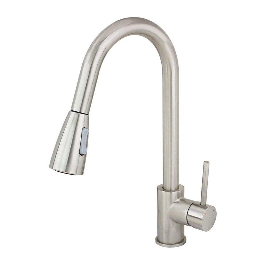 Kokols USA Brushed Nickel 1-Handle Pull-Down Sink/Counter Mount Kitchen Faucet