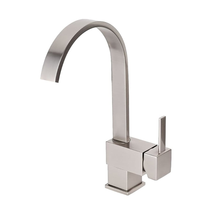 Kokols USA Brushed Nickel 1-Handle Deck Mount High-Arc Kitchen Faucet