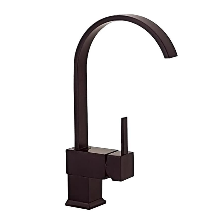 Kokols USA Oil-Rubbed Bronze 1-Handle Deck Mount High-Arc Kitchen Faucet