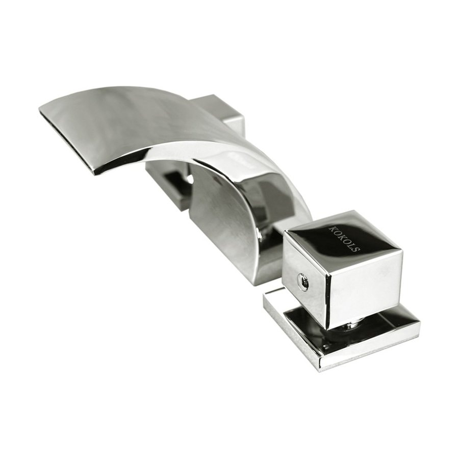 Kokols USA Polished Chrome 2-Handle Fixed Deck Mount Bathtub Faucet