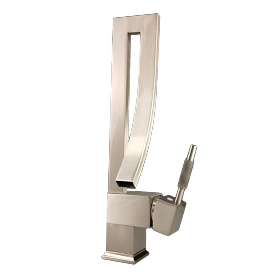 Kokols USA Brushed Nickel 1-Handle Deck Mount Low-arc Bar and Prep Faucet