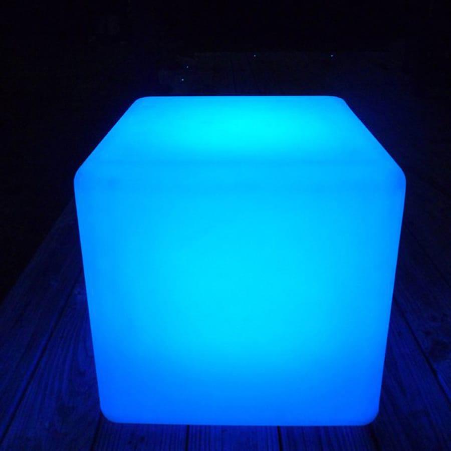 Artkalia Kubbia 16.92-in White Opaque LED Cube Indoor Floor Lamp