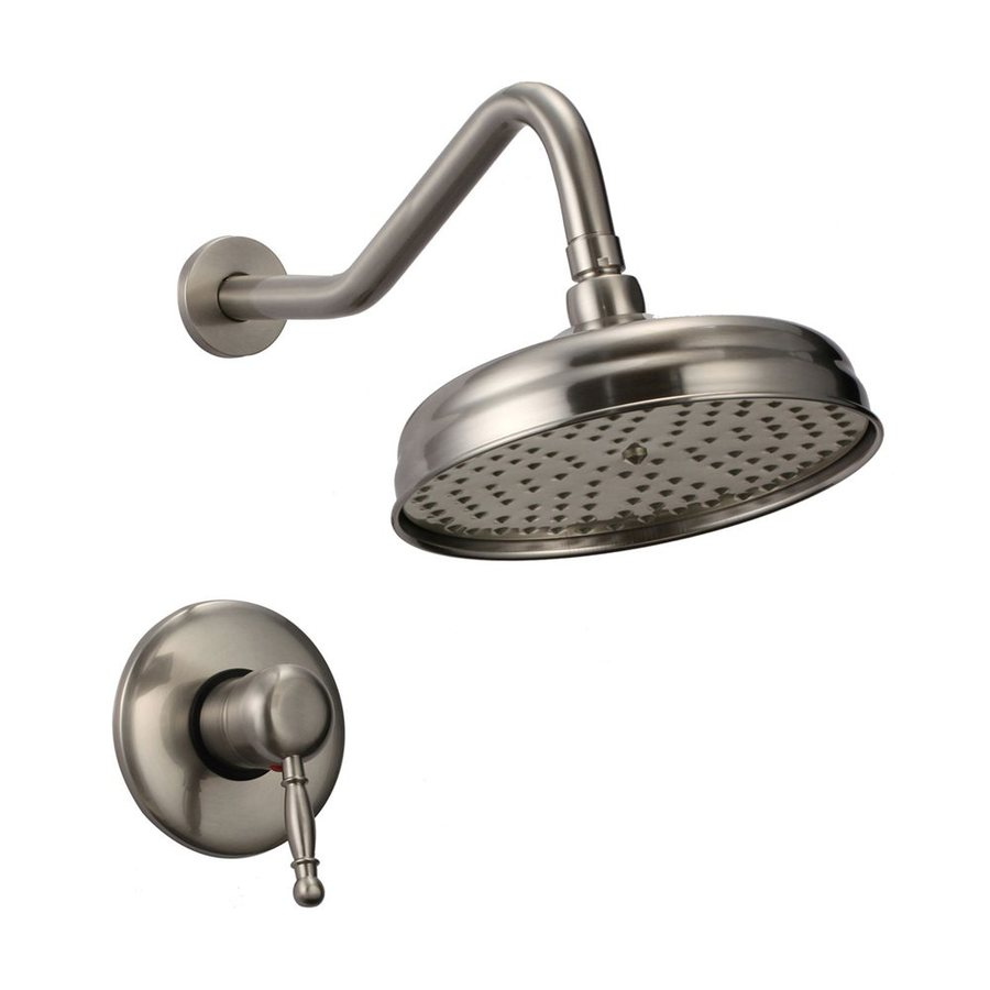 Kokols USA Brushed Nickel 1-Spray Rain Shower Head Shower Head