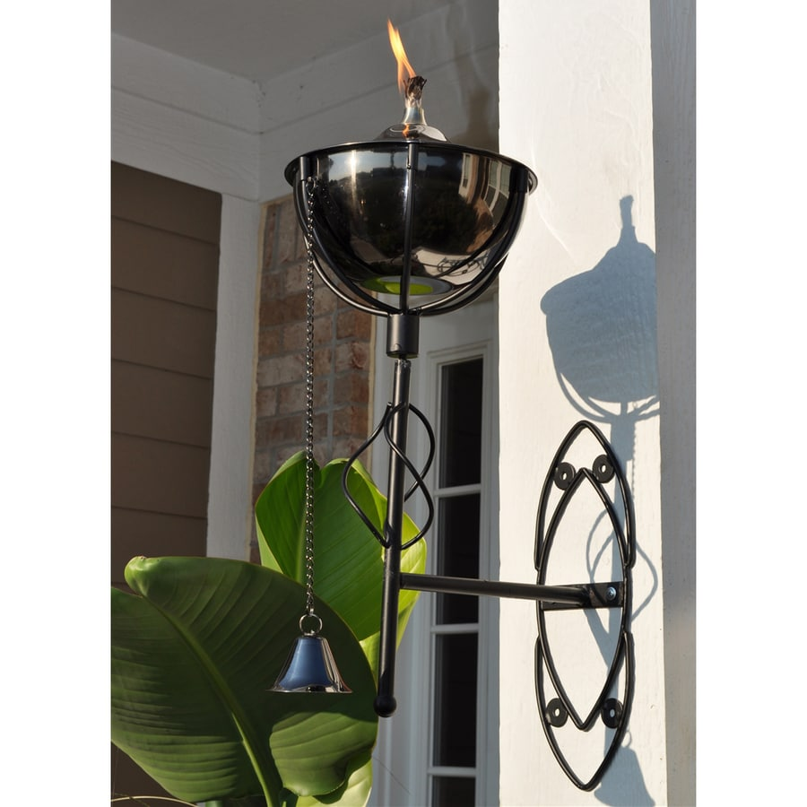 Starlite Garden & Patio Torche Maui Grande 2-Pack 21-in Black Nickel Copper Citronella Torches