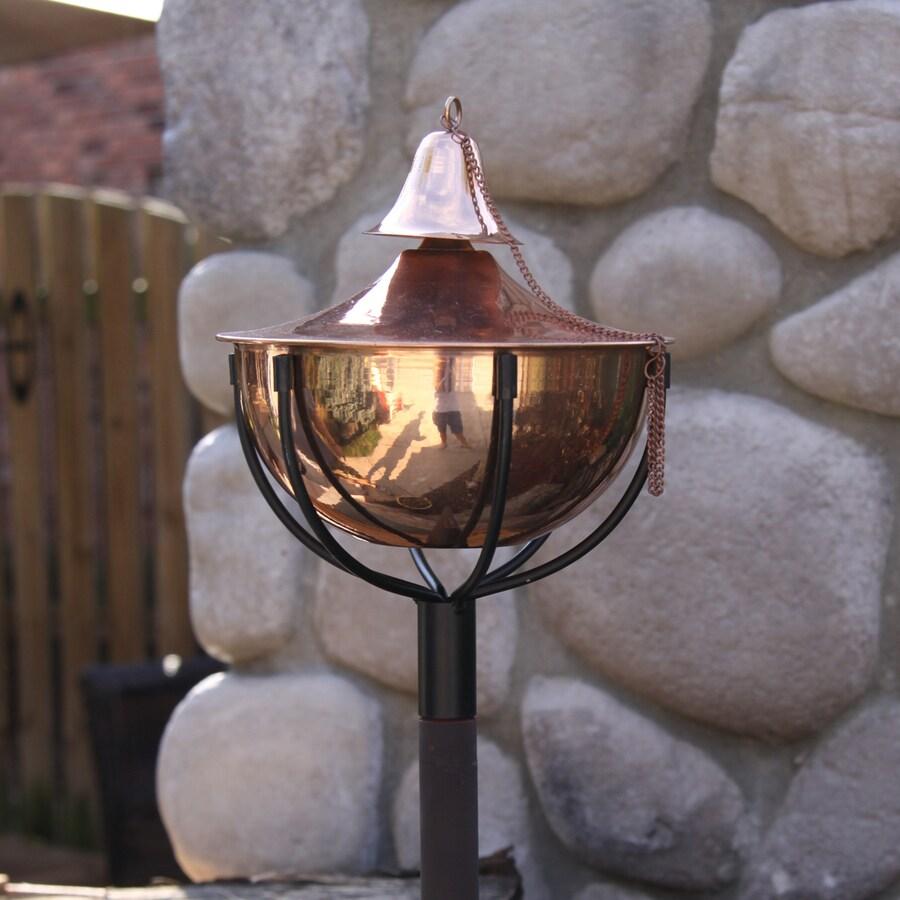 Starlite Garden & Patio Torche Maui Grande 2-Pack 61-in Smooth Copper Stainless Steel Garden Torches
