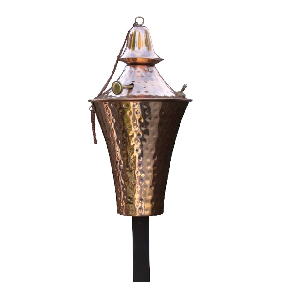 Shop passage deluxe kona 2 pack 63 in hammered copper for Outdoor tiki torches