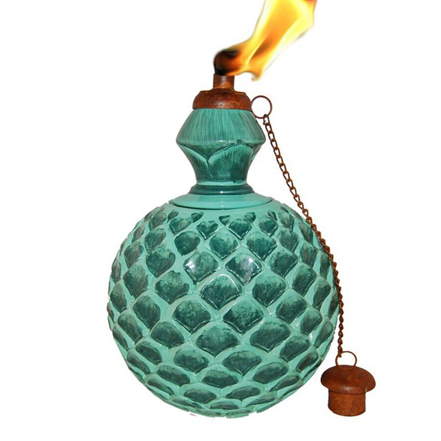 Legends Direct Mexican Clay 11.25-in Green Ceramic Tabletop Torch