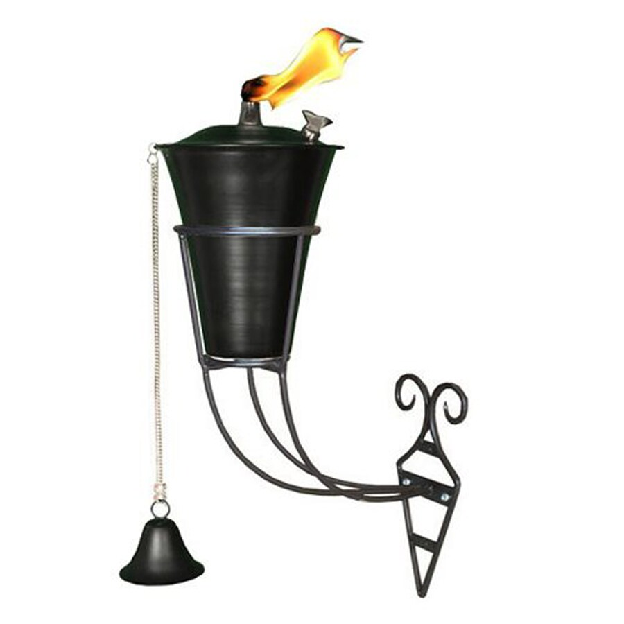 Legends Direct Ebony Kona 8.5-in Ebony Steel Citronella Deck Torch