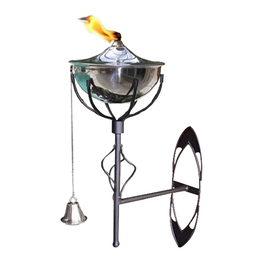 Legends Direct Maui 16-in Smooth Nickel Steel Citronella Deck Torch