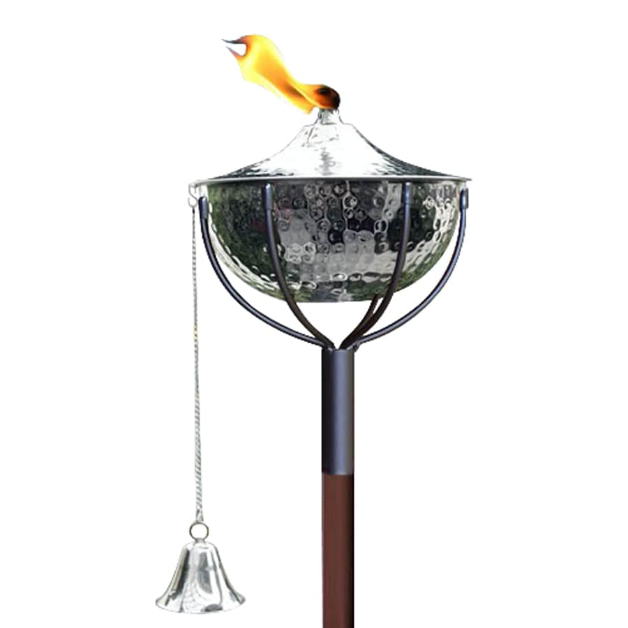 Legends Direct Maui 63-in Hammered Nickel Citronella Garden Torch