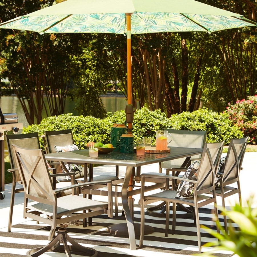 Shop allen + roth Everchase 7-Piece Gray Patio Dining Set ...