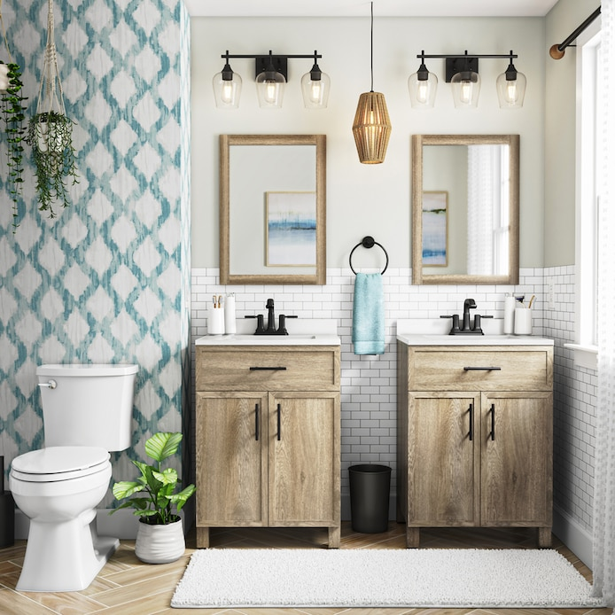 Shop Style Selections Dolton Wood Vanity Bathroom Collection At Lowes Com