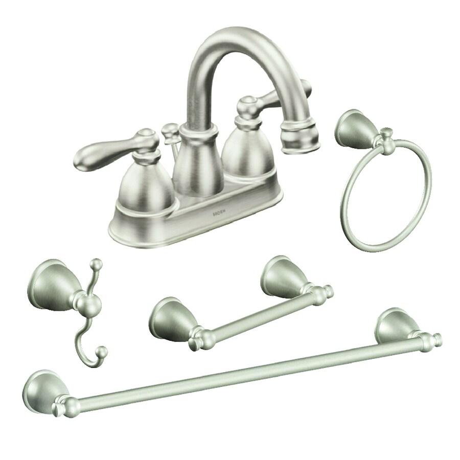 Shop Moen Caldwell Brushed Nickel Bathroom Hardware Set At Lowes Com