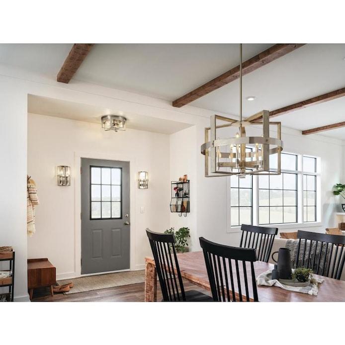 Kichler Modern Farmhouse Lighting, Modern Farmhouse Chandeliers For Dining Room