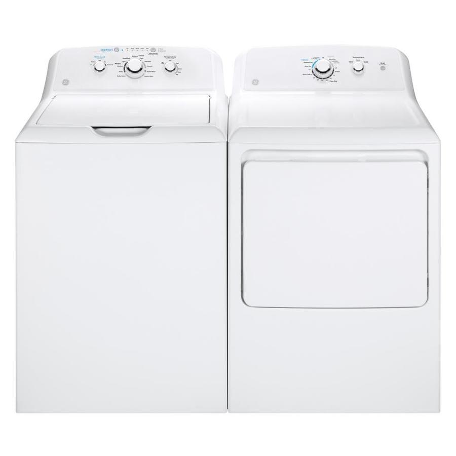 Shop Ge Top Load Washer Electric Dryer Set At Lowes Com
