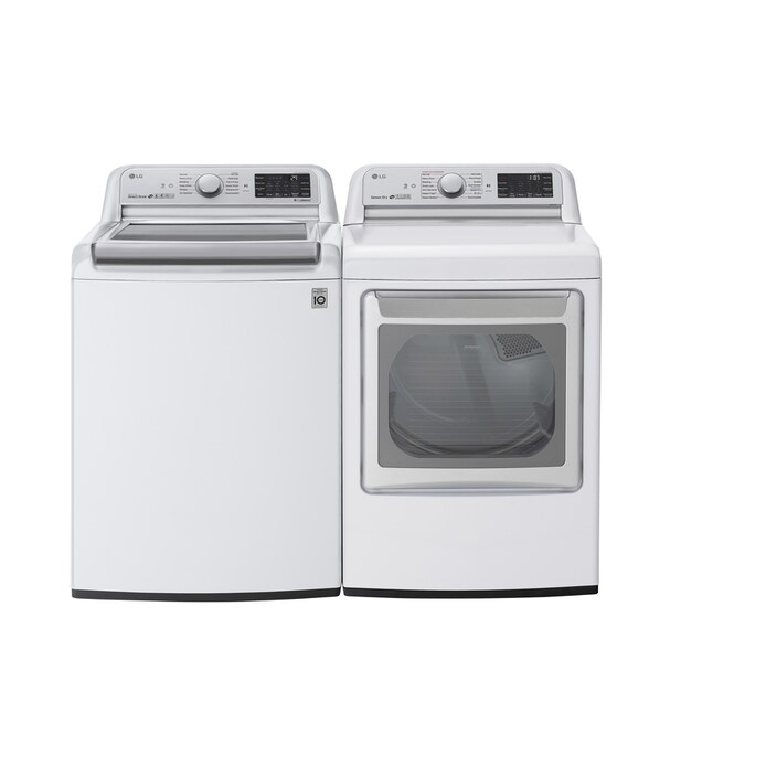 Shop Lg Turbowash Extra Capacity White Top Load Washer Electric Dryer Set At Lowes Com