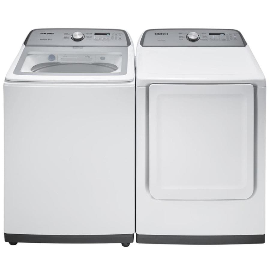 Shop Samsung Large Capacity Top Load Washer Electric Dryer Set At Lowes Com