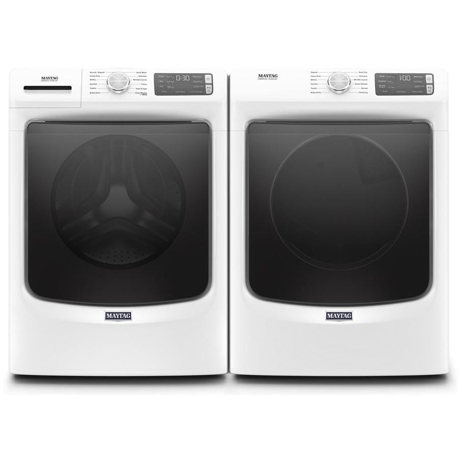 Shop Maytag High Efficiency Stackable Front Load Washer Gas Dryer Set W Steam Cycle At Lowes Com