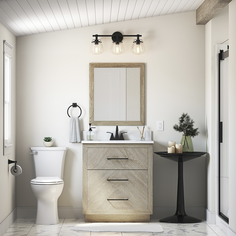 Shop Style Selections Herringbone Bath Collection At Lowes Com