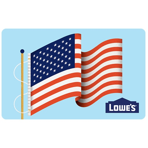 shop american flag gift card at lowes com