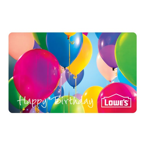 Lowes Birthday Balloons Gift Card