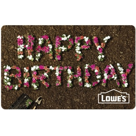 Birthday Gift Cards At Lowes