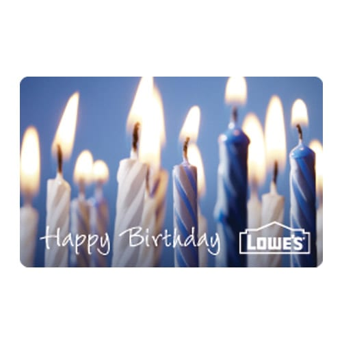 Shop Happy Birthday Gift Card at Lowes – Birthday Gift Cards