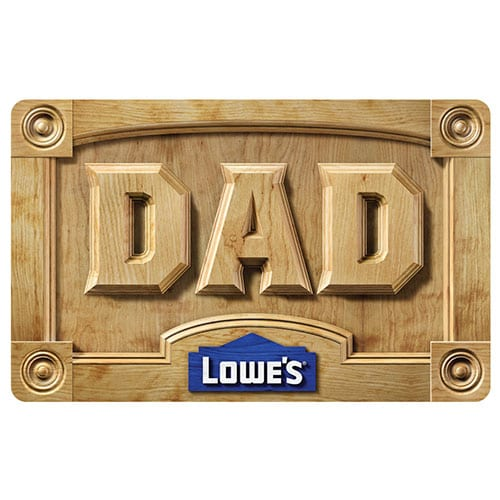 Dad Woodworking Gift Card