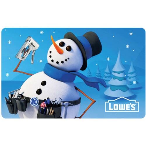 Handy Snowman Gift Card
