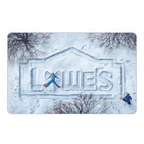 Lowe's Holiday Snow Gift Card