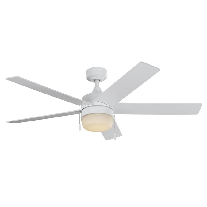 Harbor Breeze Newbern 52 In White Ceiling Fan 5 Blade In The Ceiling Fans Department At Lowes Com