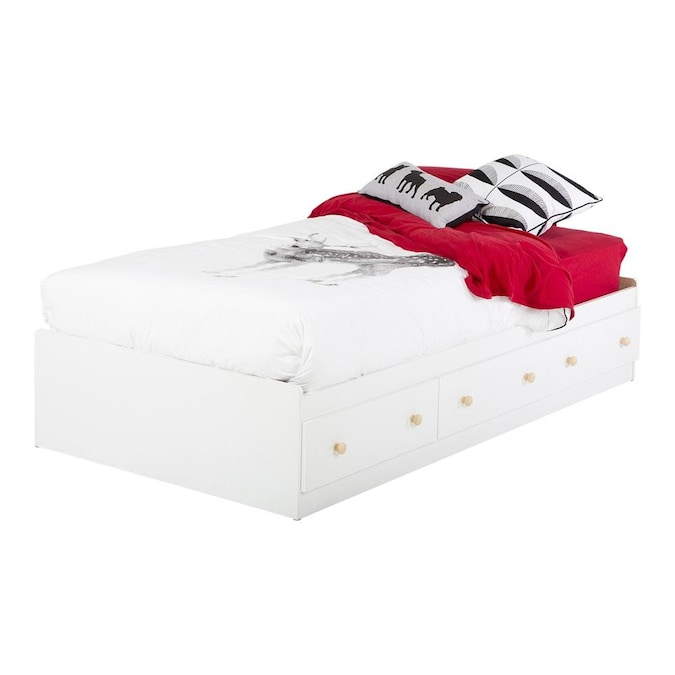 South S Furniture Summertime Pure, White Twin Storage Bed Canada