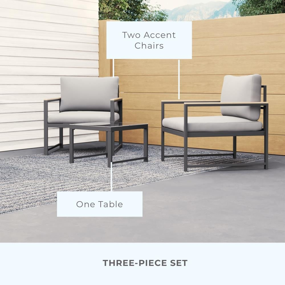 Brookside Meg 10 Piece Metal Frame Patio Conversation Set with Cushions  Included
