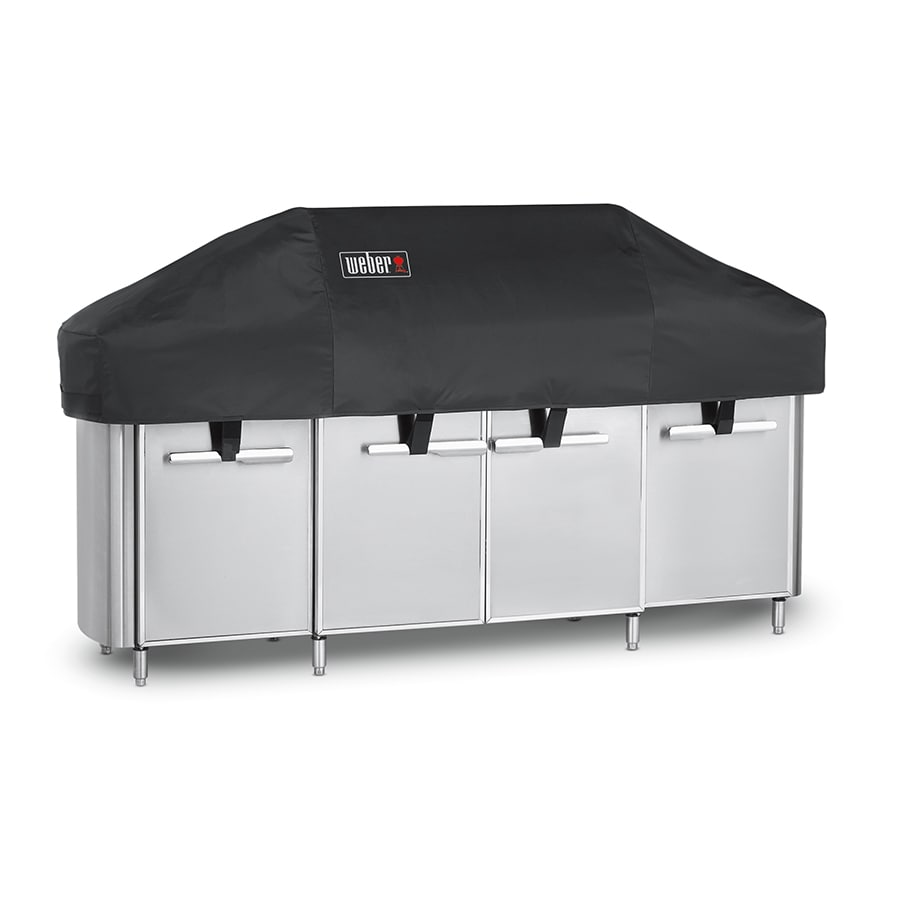 Weber 91 In Black Modular Outdoor Kitchen Gas Grill Cover In The Grill Covers Department At Lowes Com