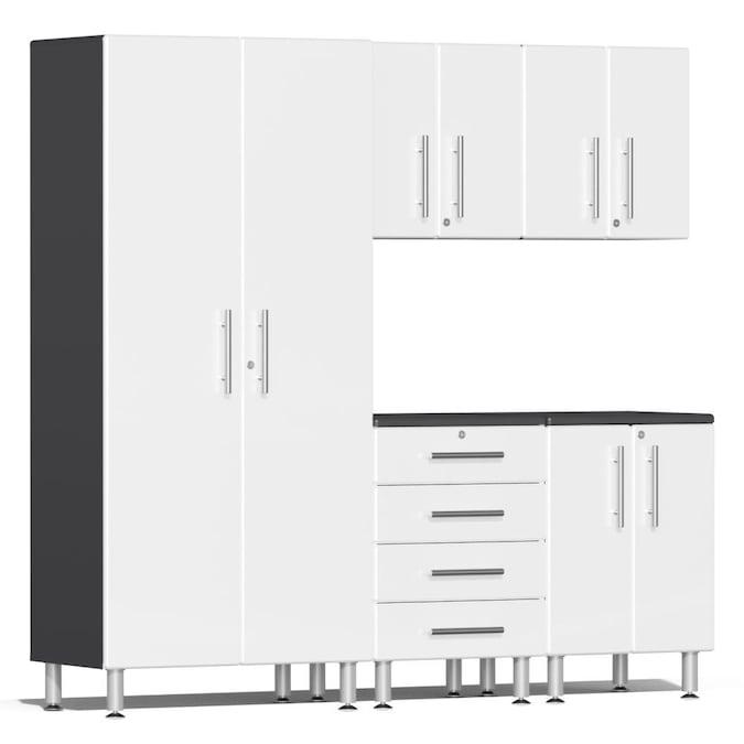 Ulti Mate Garage 2 82 7 In W X 80 H, White Wood Garage Storage Cabinets