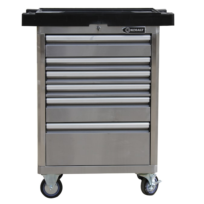 Kobalt 33 4 In W X 40 H 6 Drawer, Stainless Steel Tool Cabinet