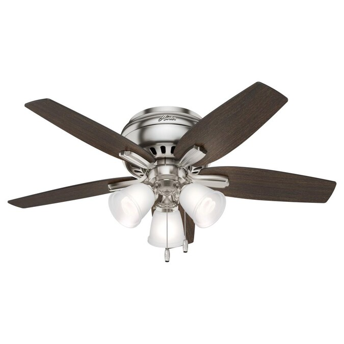 Hunter Newsome 42 In Brushed Nickel Led Ceiling Fan 5 Blade In The Ceiling Fans Department At Lowes Com