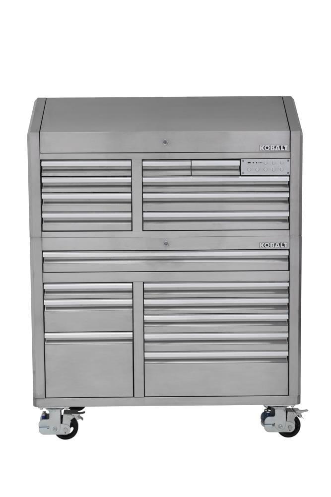 Kobalt 3000 Series 53 In W X 68 7 H, Stainless Steel Tool Cabinet