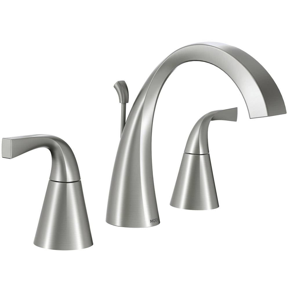 Moen Oxby Spot Resist Brushed Nickel 2, Moen Bathroom Faucets Widespread Brushed Nickel