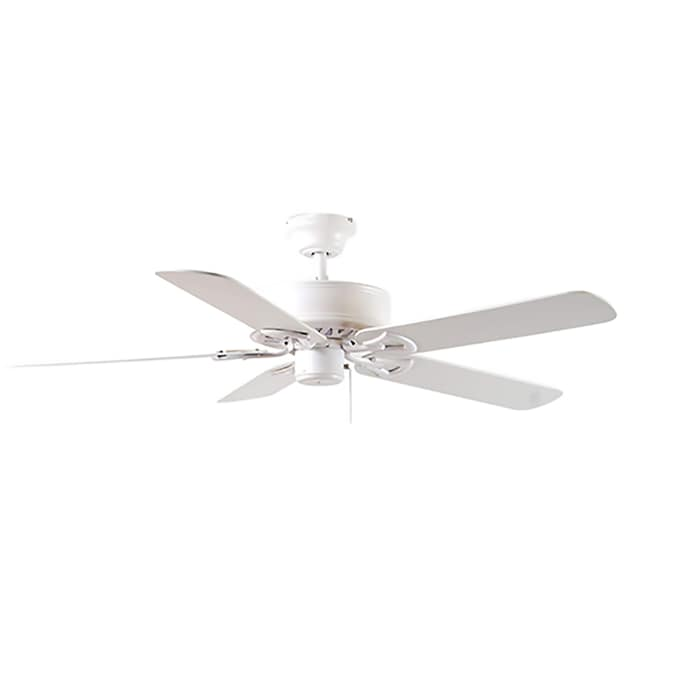 Harbor Breeze Classic 52 In White Ceiling Fan 5 Blade In The Ceiling Fans Department At Lowes Com