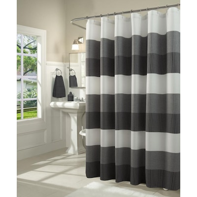 Black Shower Curtains Liners At Com, Black And Cream Shower Curtain