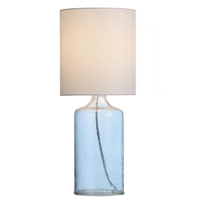 Aqua Blue Table Lamp With Fabric Shade, Aqua Blue Lamp Shades