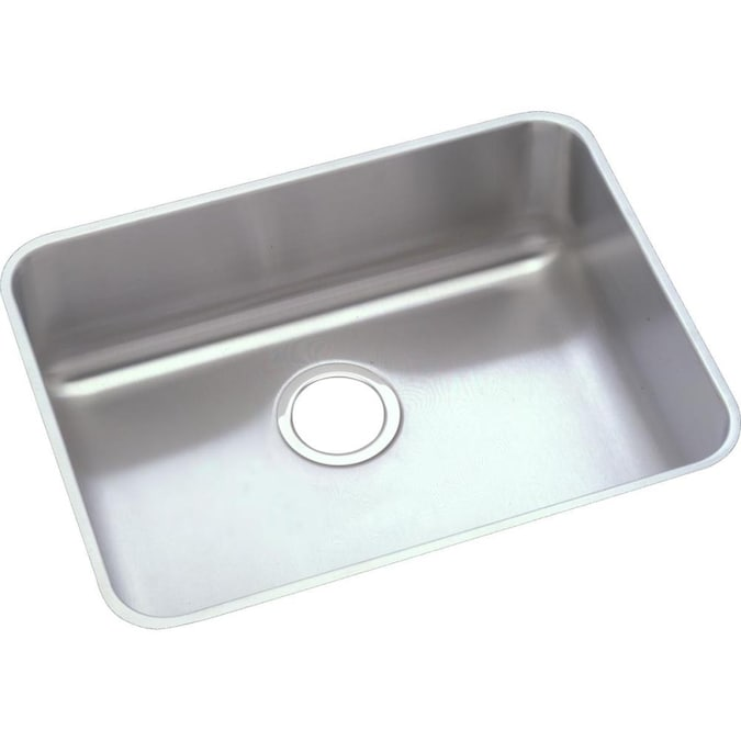 Elkay Lustertone Undermount 21 5 In X 18 5 In Lustertone Single Bowl Kitchen Sink In The Kitchen Sinks Department At Lowes Com