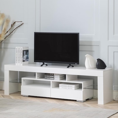 Canmov Wood Media Storage Console Tv, Tv Stand For Media Storage Assembly