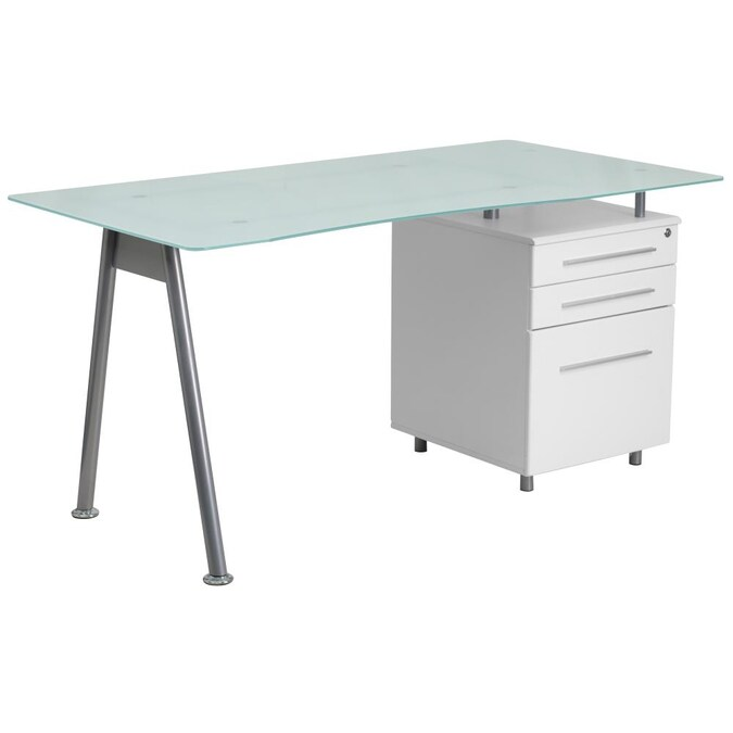 White Modern Contemporary Computer Desk, Flash Furniture Computer Desk