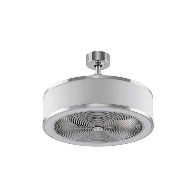 Fanimation Studio Collection Ringaire 23 In Chrome Led Indoor Ceiling Fan With Remote 3 Blade In The Ceiling Fans Department At Lowes Com