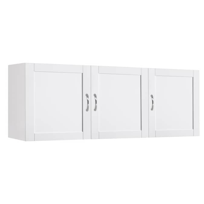 Estate 53 75 In W Wood Composite Wall, White Wall Cabinets For Laundry Room