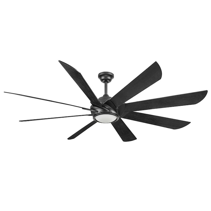Harbor Breeze Hydra 70 In Black Indoor Ceiling Fan With Remote 8 Blade In The Ceiling Fans Department At Lowes Com