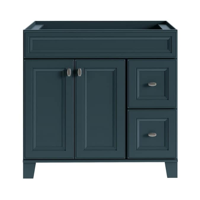 Diamond Now Goslin 36 In Maritime Blue Bathroom Vanity Cabinet In The Bathroom Vanities Without Tops Department At Lowes Com